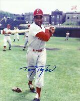 Tony Taylor 1964 Philadelphia Phillies Wrigley Field Autographed 8x10 Photo COA