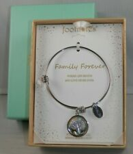 """FootNOTES Bracelet """"Family Forever"""" Stainless Steel Expandable Bangle Charm NEW"""