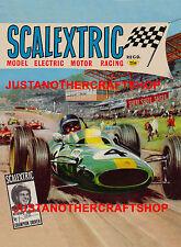 Scalextric Jim Clark 1965 Poster Advert Shop Display Sign Leaflet