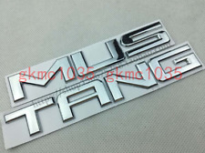 """Shiny Silver """"Mustang"""" Logo Letters Trunk Emblem Sticker for Ford Mustang Chrome"""
