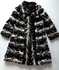 "Vintage Lazare A. Trachos Skunk Fur Coat Jacket Black Brown White 42"" Chest"