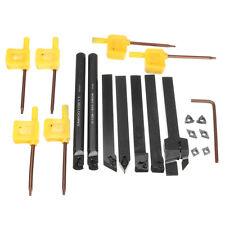 7PCS Set Of 10mm Lathe Turning Tool Holder Boring Bar + DCMT/CCMT Carbide
