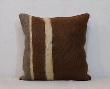 Brown Pillow Cover,Angora Wool Pillow,16x16 Pillow Cover,Room Pillow,Housewares