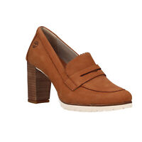 Timberland Leslie Anne Moccasin Pump A1T25 Brown Women's Shoes 9.5 (New)