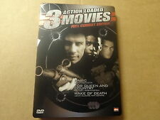 3-DISC METAL CASE DVD / 3 ACTION LOADED MOVIES - FULL COMBAT EDITION