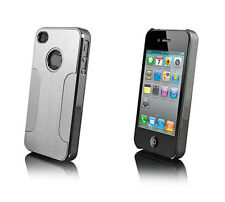 Luxury Brushed Aluminum Chrome Hard Case Cover For Apple iPhone 4 4S