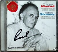 Lorin MAAZEL Signed STRAUSS Sinfonia domestica Tod und Verklärung CD Richard RCA