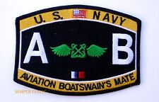 US NAVY Aviation Boatswain's Mate AB RATING HAT PATCH USS PIN UP ENLISTED CHIEF