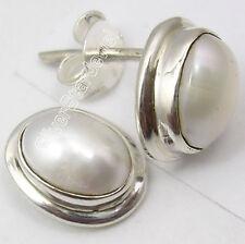 """925 SOLID Silver FRESH WATER PEARL Stud Earrings 0.5"""""""