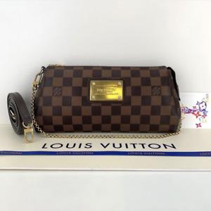 Louis Vuitton Damier Ebene Eva Crossbody Shoulder Handbag