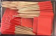 LOT OF 2 BOXES of Solid Red Toothpick Flags, 200 flag toothpicks per box