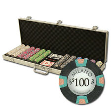New 600 Milano 10g Clay Poker Chips Set with Aluminum Case - Pick Chips!