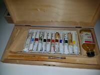 Vintage Winsor & Newton Oil Paints Wooden box set
