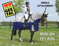 """GEE TAC HORSE RIDE ON FLY RUG COMBO UV RATED LINED FLY MASK all sizes 6.3"""""""