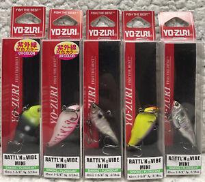 "(5) YO-ZURI Rattl'N Vibe MINI 1-5/8"" 3/16oz Lipless Crankbaits Good Colors 62"