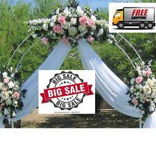 White Metal Arch Entrance Wedding Party Flowers Garden Ballon Decorations 7.5ft
