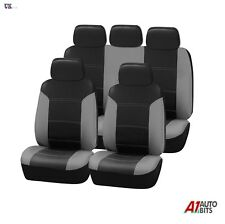 Peugeot 106 205 206 207 306 307 407 Car Seat Covers Leather Look Full Set Grey
