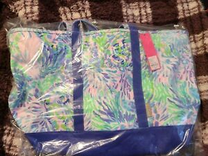 NWT Lilly Pulitzer Mercato Large Tote Shell Of A Party Free shipping!