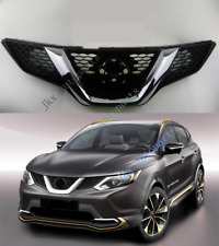For Nissan Qashqai 2015-18 Chrome Front Bumper Mesh Grille Grill Vent Hole
