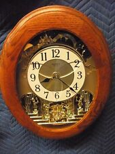 Nostalgia legend Oak 4MH833 Musical Wall Clock by Rhythm