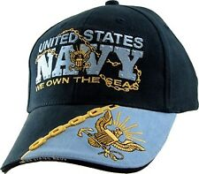 Military US Navy Hat We Own the Seas Mens Cap Navy Blue New