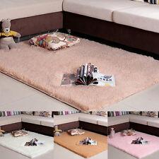 Soft Shaggy Carpet Bedroom Floor Mats Fluffy Rugs Anti-Skid Area Rug Dining Room
