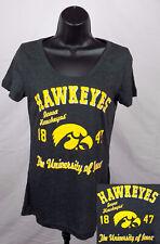 Iowa Hawkeyes Shirt Girls Junior Medium (7 - 9) Gray Scoop Neck Top New ST76