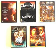 Fantasy Drama 5 Dvds: Labyrinth, Amadeus, The Phantom of the Opera, and.