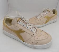 scarpa uomo  sportiva diadora heritage 43 pelle beige lacci grigio donna
