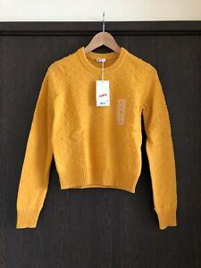 Uniqlo U Women Yellow Wool Jumper/ Sweater, Size S, BNWT