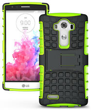 Green Strong Tough Armour Durable Tradesman TPU Case Cover Stand for LG G4