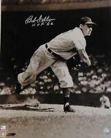 Bob Feller Signed Autographed 16x20 Photograph Cleveland Indians HOF + GAI COA