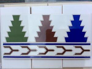 Traditional Spanish Moroccan Islamic wall tile border C282 only £1.20 each.