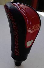 Genuine Momo Italy Red Black Leather Shift Knob For Toyota Lexus Mazda 8mm x1.25