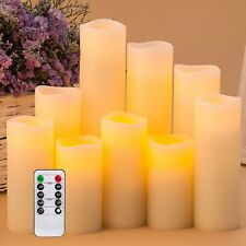 Pandaing Flameless Candles Battery Operated LED Pillar Real Wax Flickering