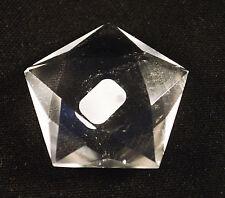 Pentagramme En Quartz CRISTAL DE ROCHE 43mm de Diamètre