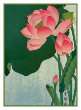Water Lily Flower by Ohara Koson Shoson Counted Cross Stitch Pattern