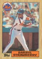 Darryl Strawberry 1987 Topps #460 New York Mets Baseball Card