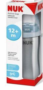 NUK Active Cup Trinklernflasche Kinder Thermoflasche Babyflasche Edelstahl