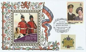 TURKS & CAICOS 2012 QUEEN MOTHER 10th ANNIVERSARY OF HER DEATH BENHAM COVER d