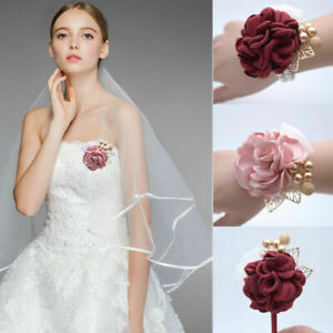 Wrist Corsage Bracelet Bridesmaid Sisters Hand Flower Wedding Party Decor Supply