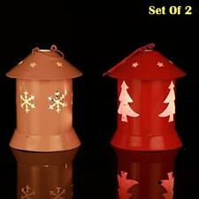 Candle Set of 2 laltern candle Tealight Holder for Home, Christmas Decoration