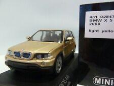WOW EXTREMELY RARE BMW E53 X5 SUV 4.4i V8 32V 2000 Gold m 1:43 Minichamps-M3/GTR