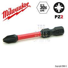 Milwaukee PZ2 Pozi 50mm Screwdriver Bit x1 Shockwave Impact Duty Bit