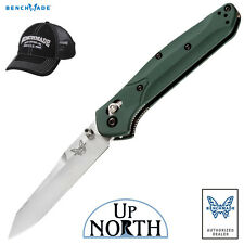 Benchmade 940 Osborne Green Aluminum Handle Knife S30V Plain Edge Blade FREE HAT