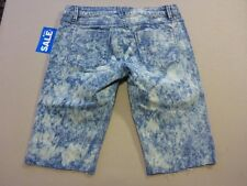 106 WOMENS NWT ROXY REG FIT BLEACHED BLUE STRETCH DENIM SHORTS 10 $80 RRP.
