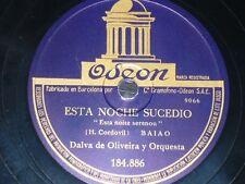 BRAZIL 78 rpm RECORD Odeon DALVA DE OLIVEIRA Palhaço / Esta noite serenou SPAIN