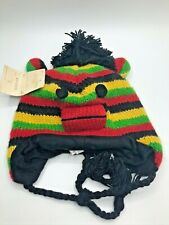 Sock Monkey Beanie Cap Jamaica Adult Size The Royal Collection 100% Wool Nepal