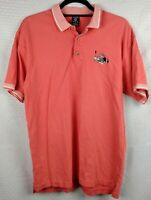 Vintage WB Warner Bros Mens Pink Salmon Golf Polo Shirt Bugs Bunny size L