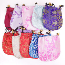 """Lots 50PCS Multi-Color Chinese Brocade Jewelry Bag Pouch 4"""" Multi-Purpose"""